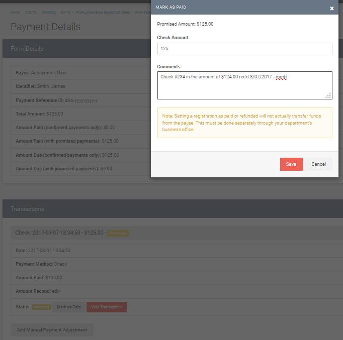 enter details of payment