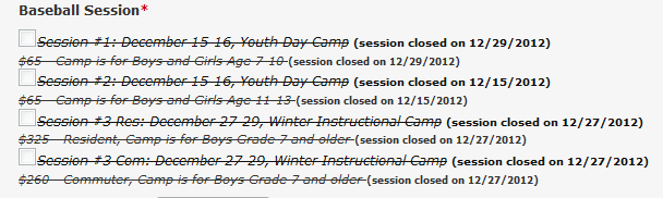 all sessions closed