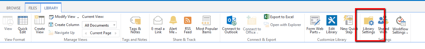SharePoint Library Ribbon