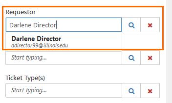 "Screenshot of Filter pane under ""requestor."""