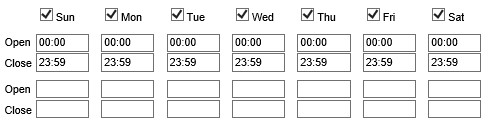 Example of response group hours settings.