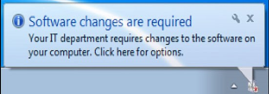 Task Bar Software Changes Required