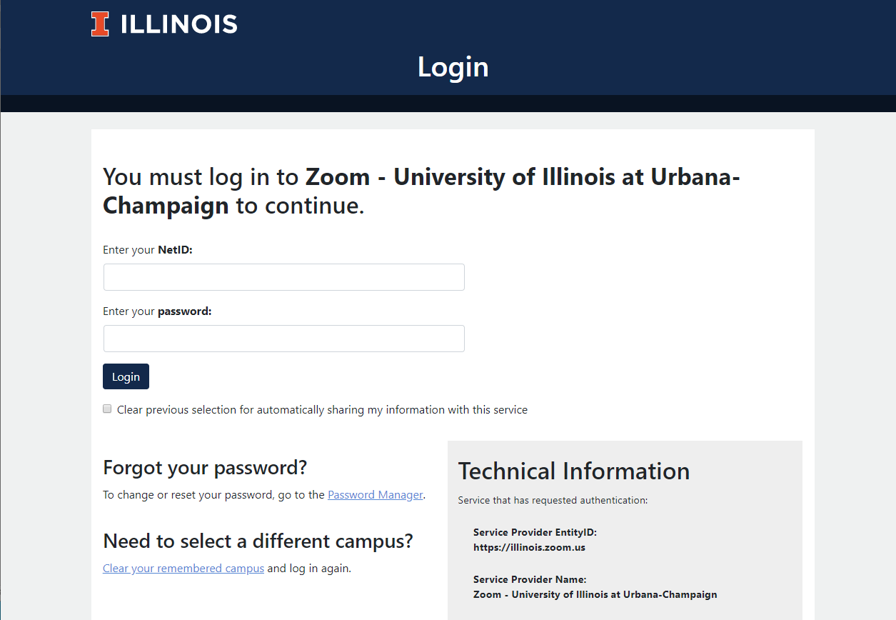 Sign into using your illinois netid and password.