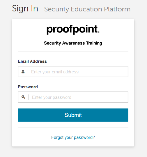 ProofpointLogInPage