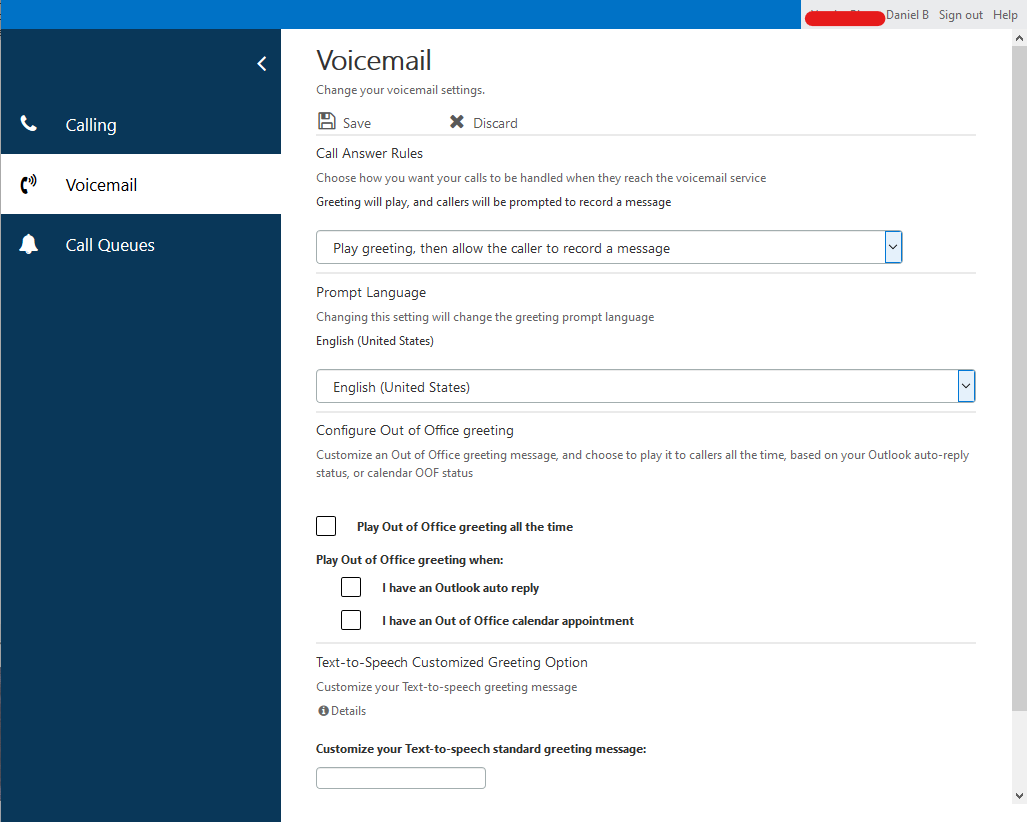 Cloud Voicemail Portal Example