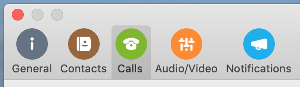 Skype for Business Mac Calls Preferences button