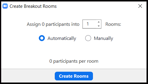 Breakout room pop up.  Automatically clicked