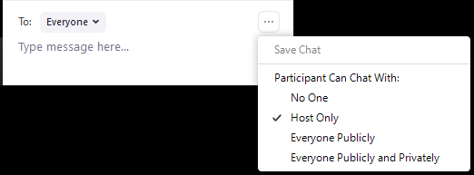 Host only chat option