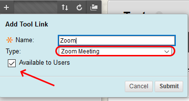 Image of Zoom Link Compass Menu