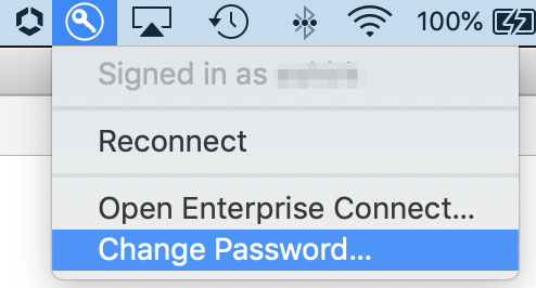 Enterprise Connect Password Change