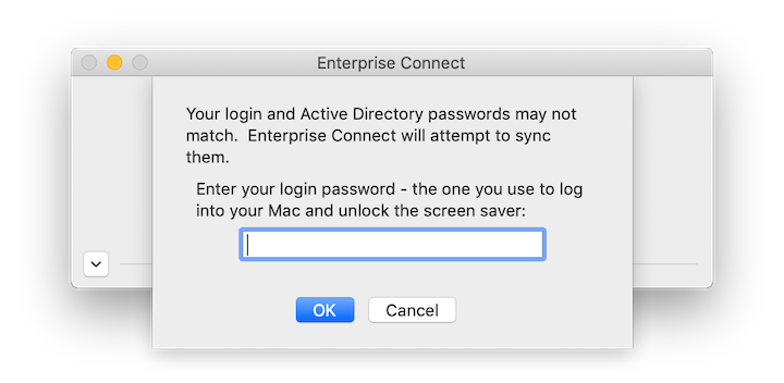 Enterprise Connect Passwords Out of Sync