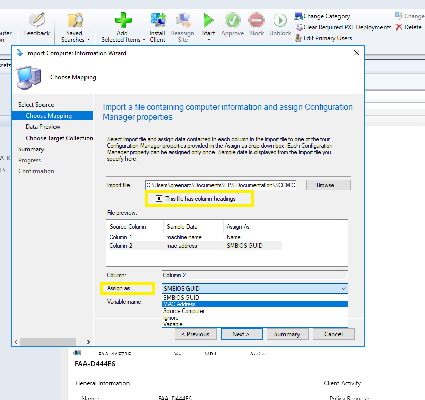 Endpoint Services, SCCM, Out-of-Box Imaging