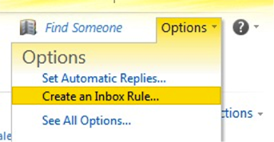 Create an Inbox Rule