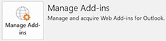 Click File and then select Manage Add-ins