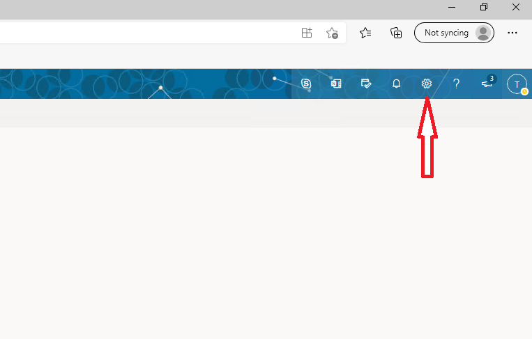 Gear icon in Outlook on the Web