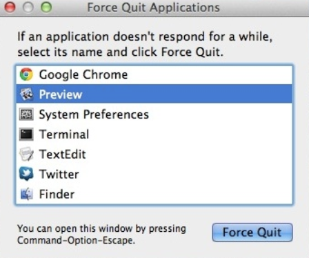 Mac Force Quit