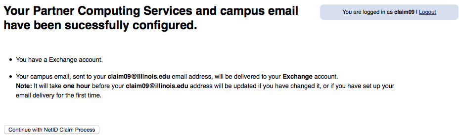 Graduate Email Confirmation