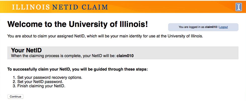 Claim NetID University Affiliates