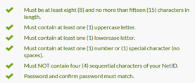 Password Requirements