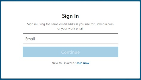 LinkedIn Learning Login Window