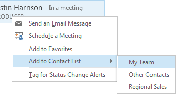 Add to Contact List