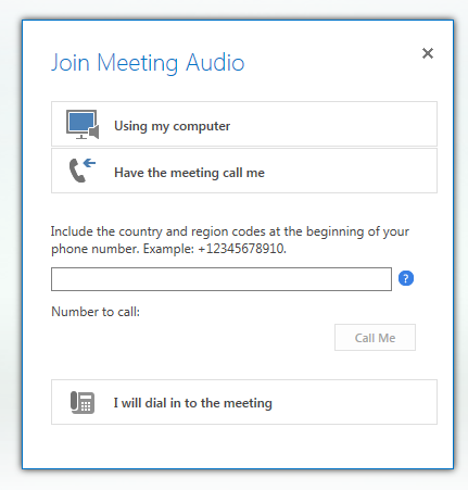 Join Meeting Audio