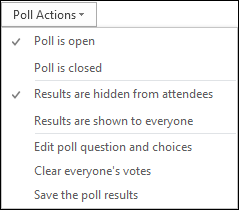 Poll Actions