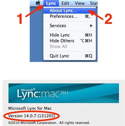 Lync 2011 Version Check