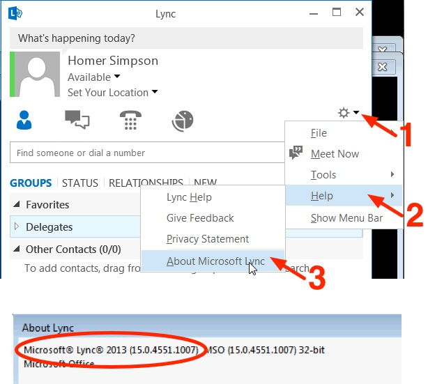 Lync 2010 Version Check
