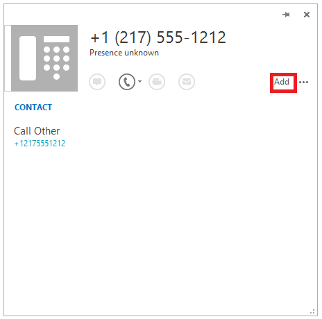 Add to contact card