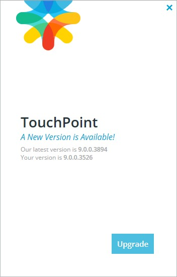 TouchPoint Upgrade button