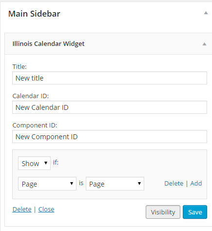 add calendar id and visibility settings