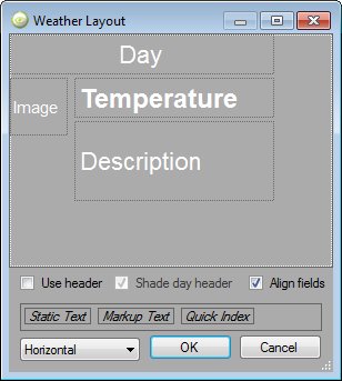 Horizontal Weather Orientation Properties