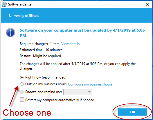 Image of Software Center interface