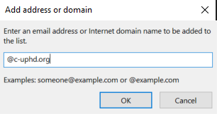 Adding domain window.