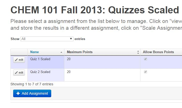 quizzes scaled category with Quiz 1 Scaled and Quiz 2 Scaled added