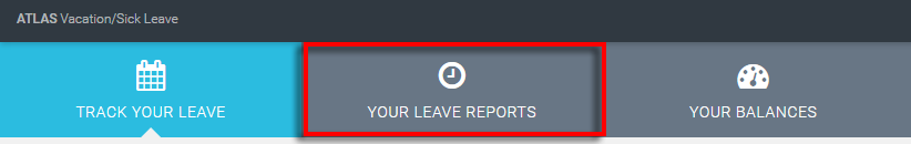 Your Leave Reports menus item is highlighted in red to emphasize that it should be clicked