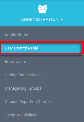 select the User Control Panel in the administration area