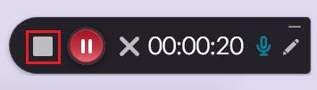 Gray stop icon