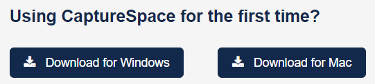 Two download option buttons for CaptureSpace screenshot