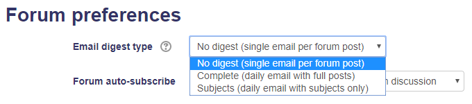 Email digest types