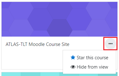 Star or hide course