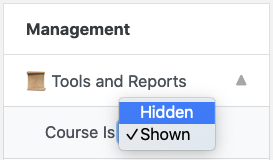 Click Tools and Reports and then select Hidden