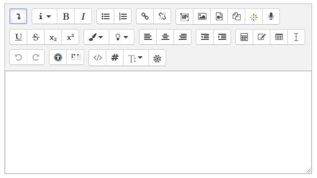Atto HTML editor