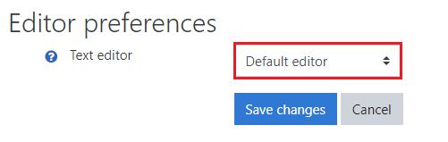 editor preferences text editor