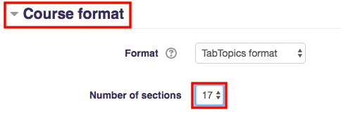 Edit number of sections