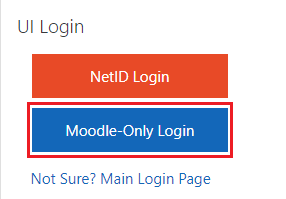 Moodle only login