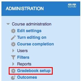 Click Gradebook setup