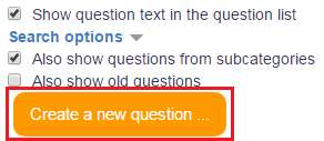 Create a new question button pic