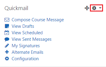 Quickmail actions menu